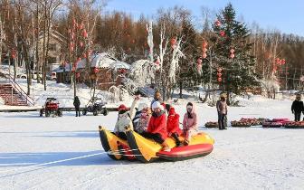 第八届中国伊春森林冰雪欢乐季开幕式正在准
