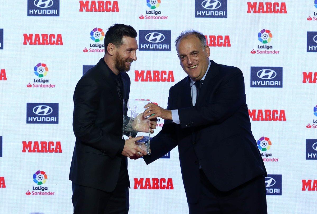 西甲主席:梅西为联赛所做的贡献比谁都多 他太重要