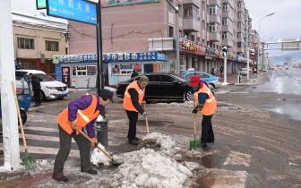 伊春市乌马河区积极组织开展清雪行动
