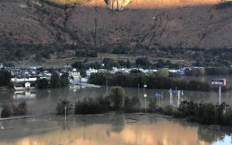 现场直击 洪峰过后的丽江石鼓长江第一湾