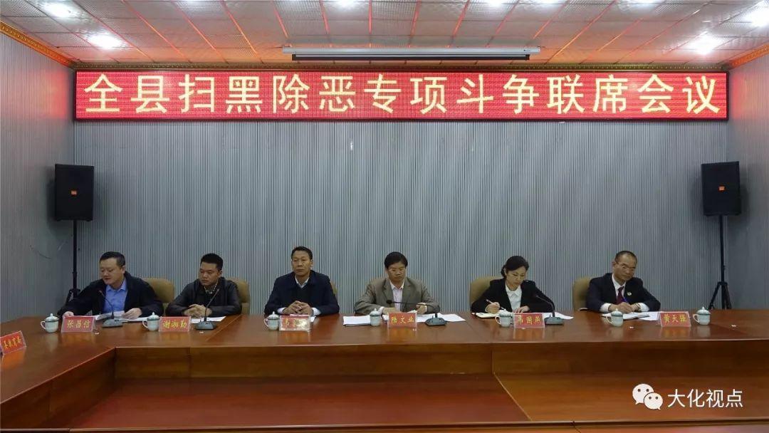 大化瑶族自治县召开扫黑除恶专项斗争联席会议