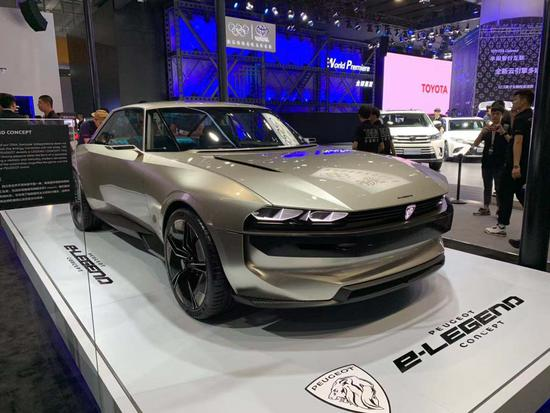 用创新科技致敬经典 标致e-Legend亮相车展