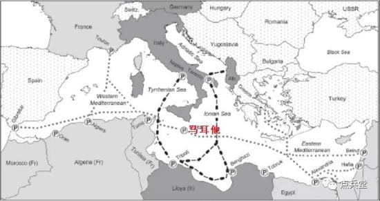 自从欧洲南部的意大利卷入二战之后,德意军队和英军就围绕地中海航线图片