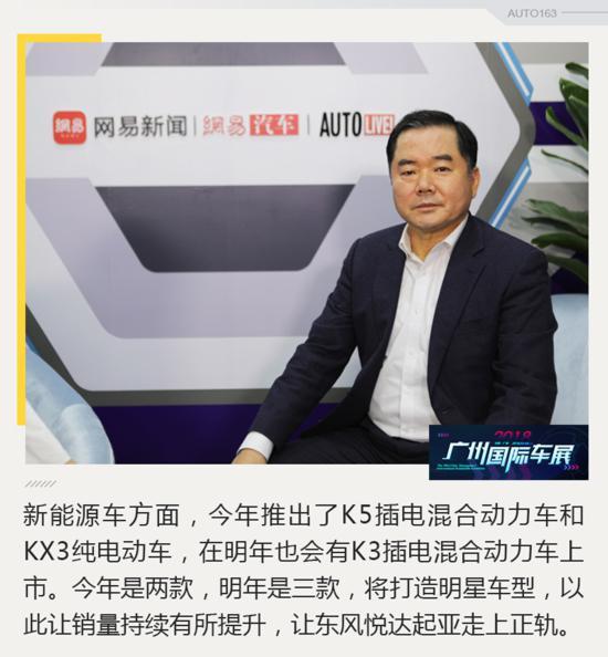 陈炳振:明年推K3 PHEV车型 将投放电动车平台