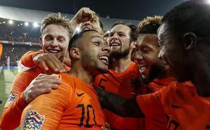 欧国联荷兰2-0法国 送德国提前降级