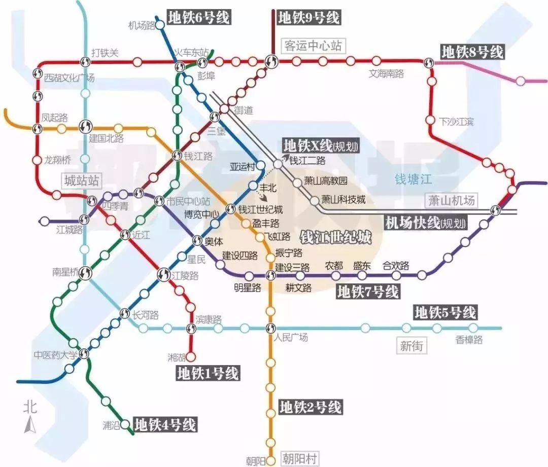 杭州机场轨道快线开始前期准备贴出拆迁公告