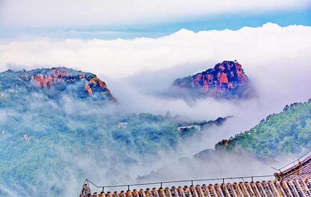 航拍下的山东各地的云海奇观