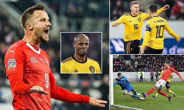 欧国联-从0-2到5-2!瑞士逆转比利时进4强 神将戴帽