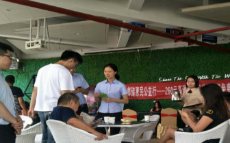 国庆佳节,邮储银行福州平潭支行走进楼盘开展外拓