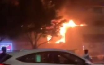 视频:环市路肇庆大厦有火警!双向交通封闭!