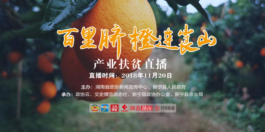 百里脐橙连崀山 产业扶贫耀三湘