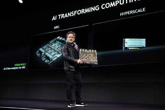 英伟达展示HGX-2服务器平台 可提供2000万亿次AI性能