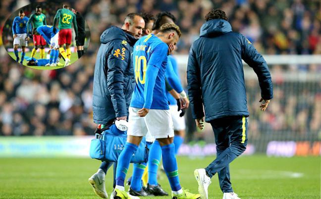 热身赛-巴西1-0喀麦隆 内马尔伤退