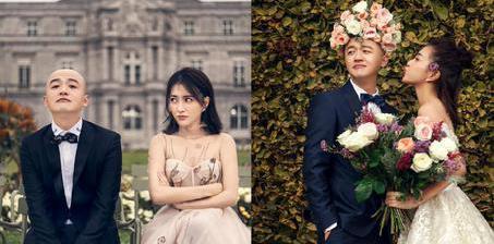 包贝尔携妻子包文婧拍婚纱照