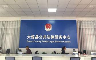 大悟县公共法律服务平台建设有序推进