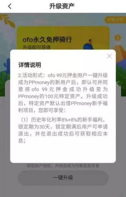 ofo转网贷理财项目. 官方回应: 已下线合作渠道