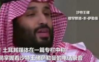 美中情局曝光沙特王储电话录音:赶紧让卡舒吉闭嘴