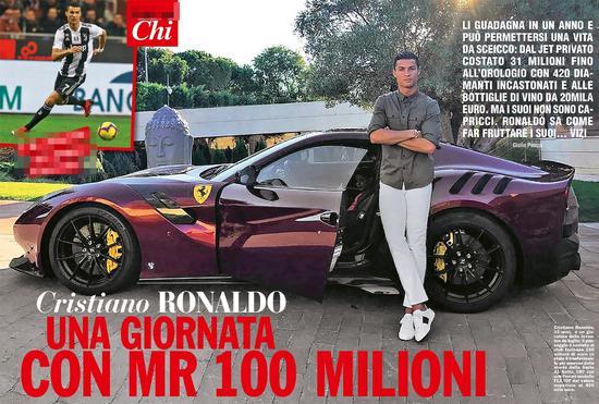 酋长C罗的生活:200万欧表+20车库…罗三岁又上线