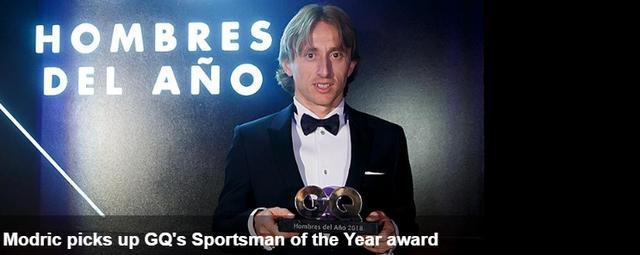 皇马官网:莫德里奇喜提GQ年度最佳运动员奖