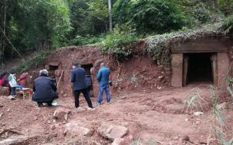 德阳中江村民修聚居点 发现4座石室宋墓