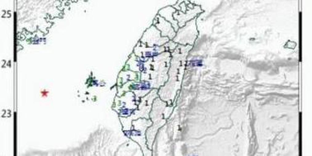 今早台湾西部海域发生6.1级地震