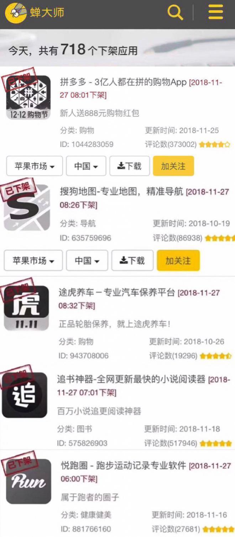 苹果暂停718个中国区App下载 拼多多搜狗中招