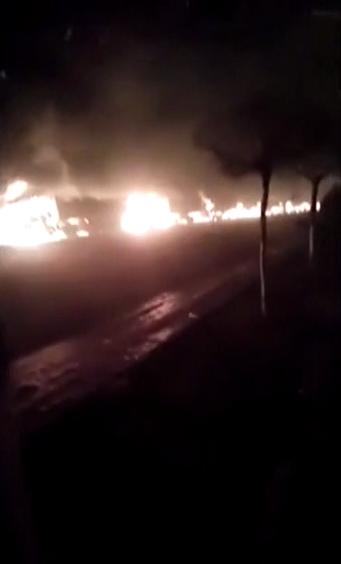 张家口爆炸致22死:车进厂时爆炸引燃周围车辆
