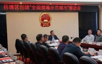 """岳塘区召开创建""""全国禁毒示范城市""""推进会"""