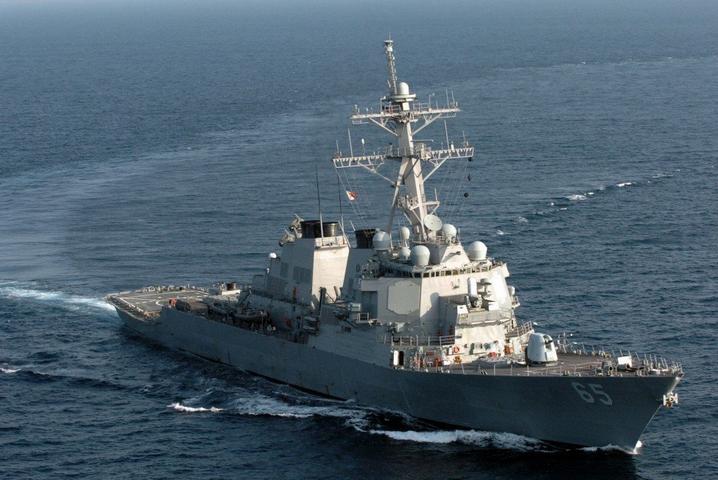 两艘美军舰昨日进入台湾海峡 媒体:一张烂牌反复打