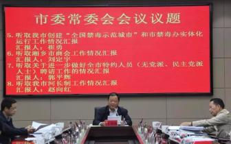 湘乡市委常委会议专题研究禁毒工作