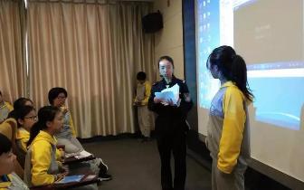 益智中学学生参观市禁毒教育基地