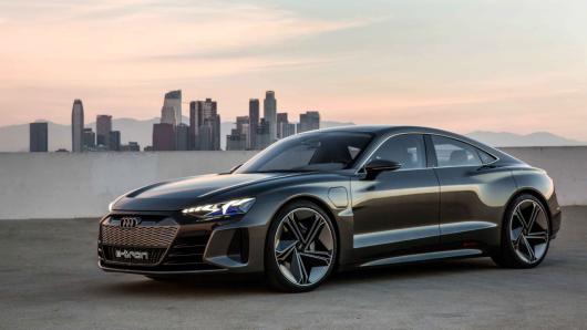 奥迪发布概念电动汽车e-tron GT 挑战特斯拉Model S[组图
