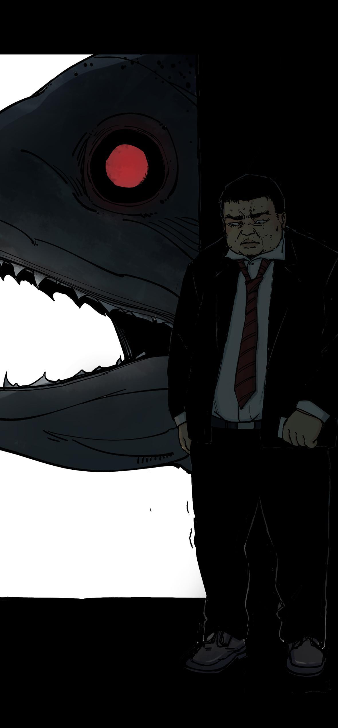 """""""有条大鱼在追我!"""""""