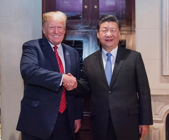 习近平同美国总统特朗普举行会晤