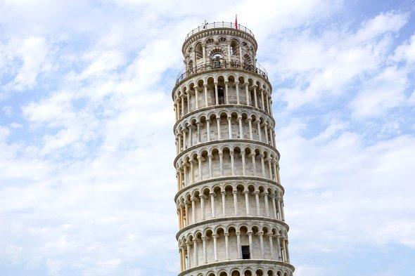 比萨斜塔十多年修正4cm 微不足道但值得庆祝