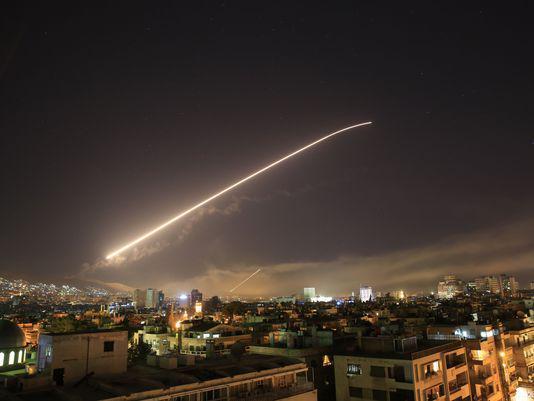 叙利亚防空系统升空拦截