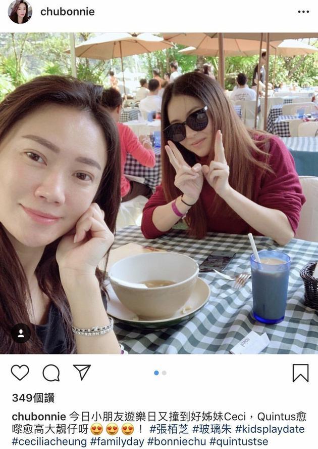 张柏芝(右)被传怀孕后首露面。