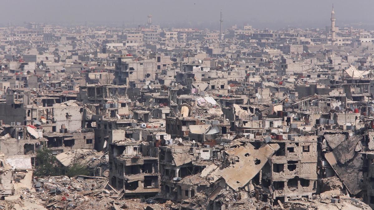 经历战争洗礼的大马士革一角