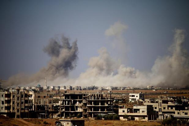 叙利亚军队遭到英军战机轰炸