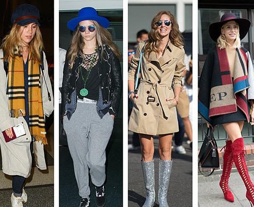 超模卡拉·迪瓦伊(Cara Delevingne)的挚爱皮衣来自Burberry,一穿就是好几年。格纹的经典款,也成了品牌的代表/视觉中国