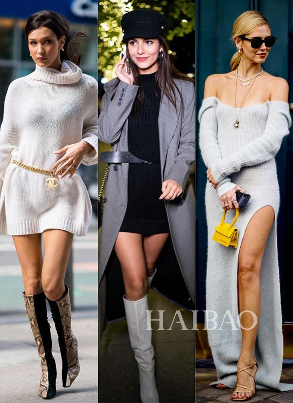 最显气质的毛衣裙搭配法,时髦美翻一整个秋冬!