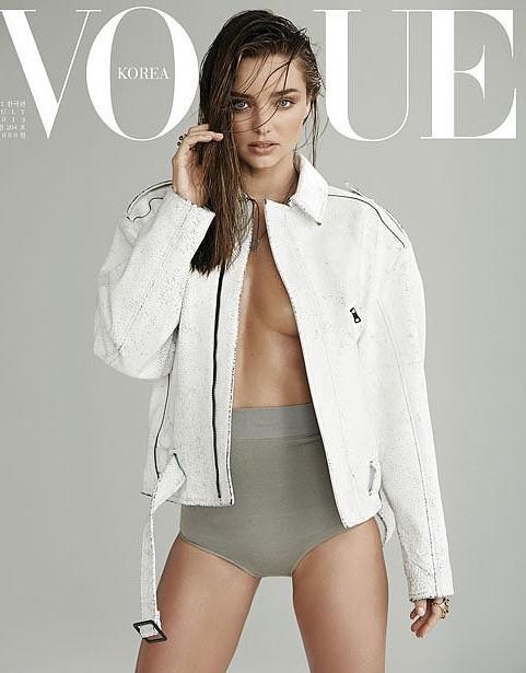 2013年6月14日,澳大利亚名模米兰达·可儿为《VOGUE》韩国版拍摄写真/视觉中国
