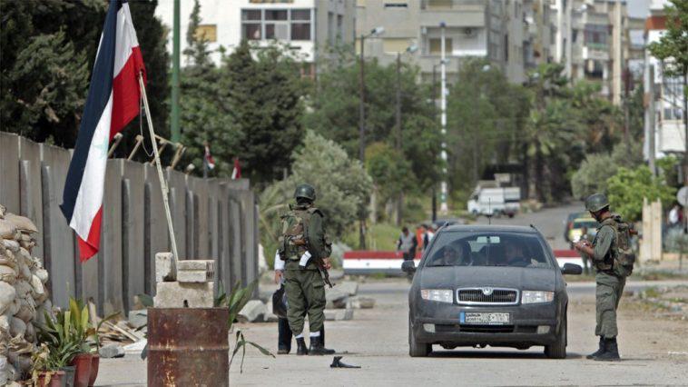 叙利亚一处军事检查站