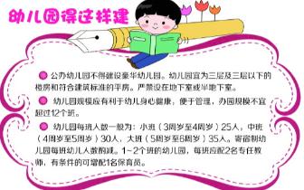 山东省为幼儿园办园条件定标准 班额上限35人
