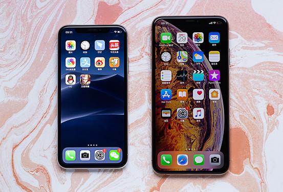 iPhone X和iPhone XS Max