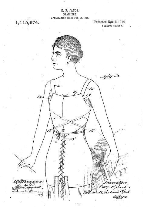 玛丽·雅各布设计的胸罩。/Wikipedia