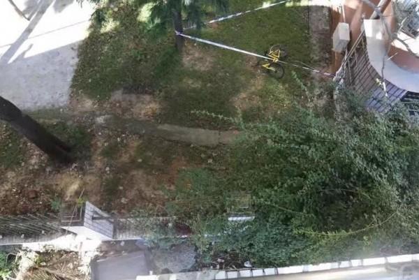 男子骑小黄车从天桥跌落身亡 警方:刹车把手不灵敏