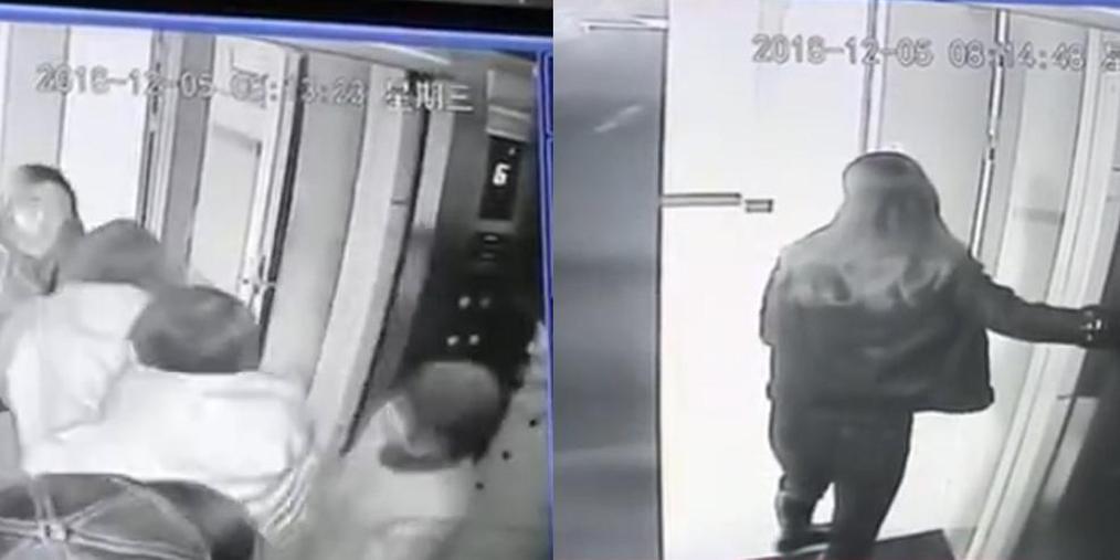 老人医院里乘电梯被挤晕 昏迷不醒