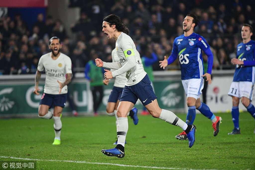 法甲-姆巴佩造点卡瓦尼扳平 巴黎客场1-1遭2连平!