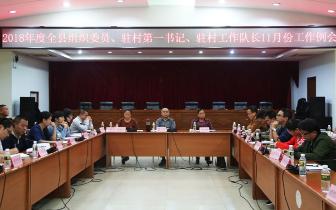 琼中召开2018年度全县组织委员、驻村第一书记、驻村工作队长11月份工作例会